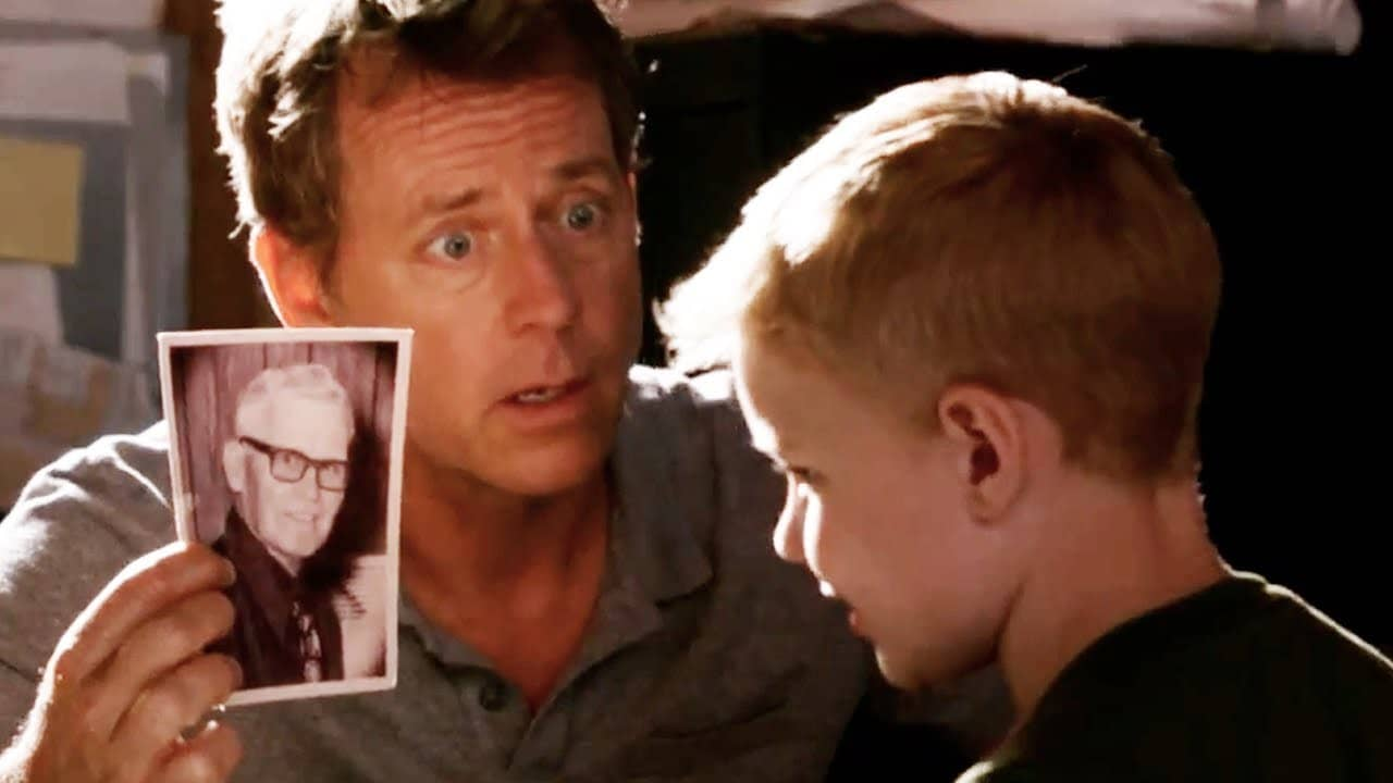 Greg Kinnear and Conner Corum
