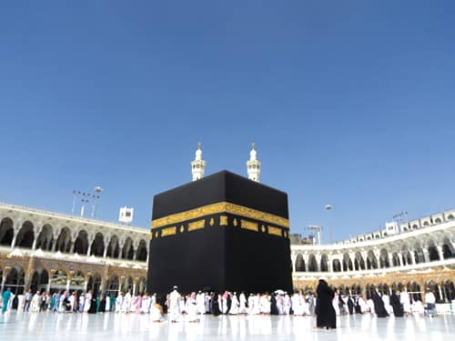 Ka'ba in mecca, on hajj pilgrimage