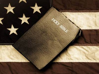 The Bible on a Flag