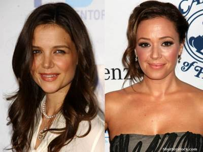 Katie Holmes and Leah Remini