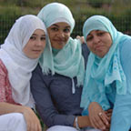Young girls wearing hijab