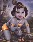 Krishna as an Infant