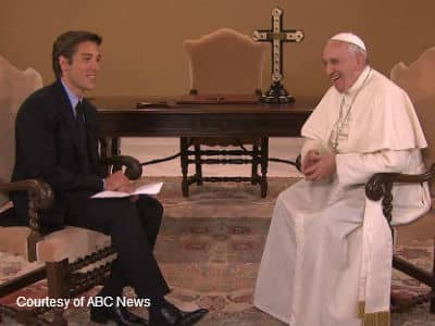 David Muir and the Pope Laughing