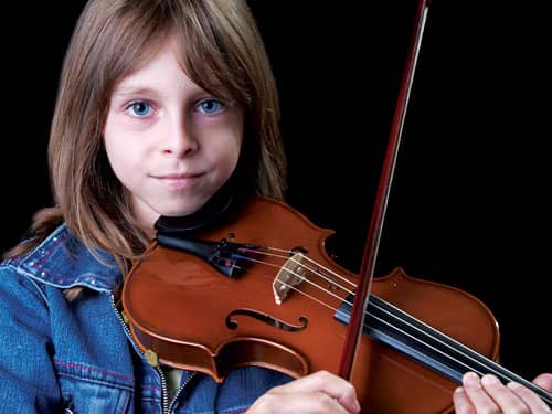 child with violin