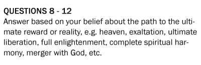 Questions 8-12, Belief-O-Matic