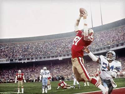 Dwight Clark Making Catch to Score Winning Touchdown