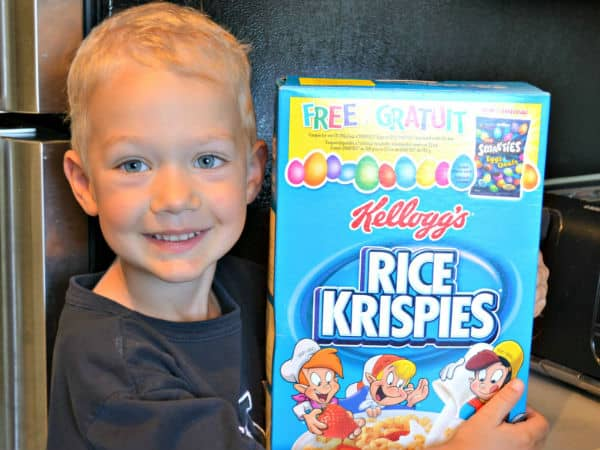 Kid Making Cereal