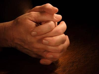 praying hands clasped