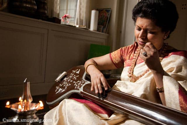 Chandrika Tandon with tanpura