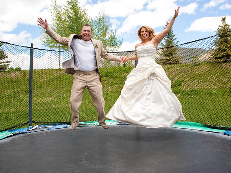 Couple on Trampoline