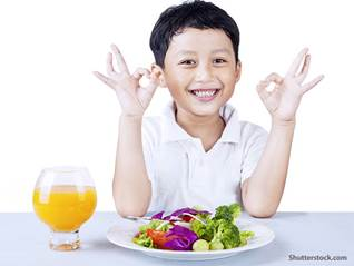 people child eating healthy