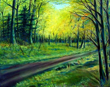 Painted image of trees