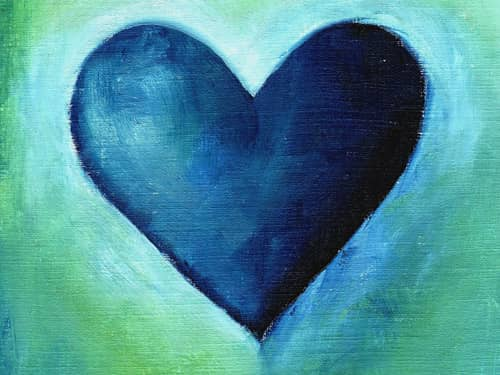 Blue Heart Painting