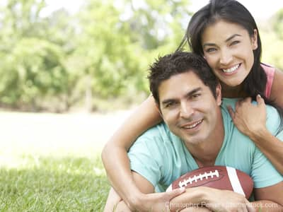 Couple with Football