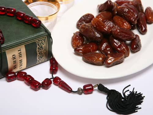 Ramadan Break Fast Foods, Quran, Dates