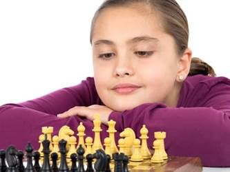 teaching patience - girl playing chess