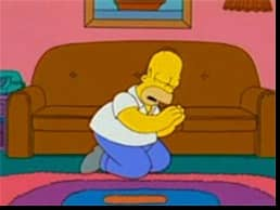 homer simpson prays