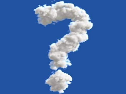 Sky question mark