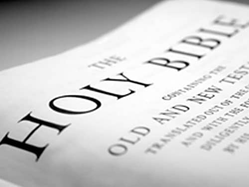 close up holy bible