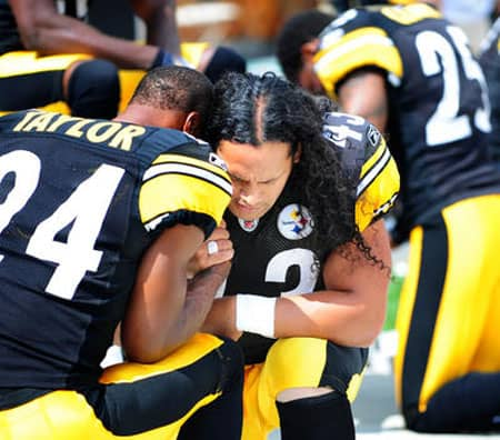 polamalu praying