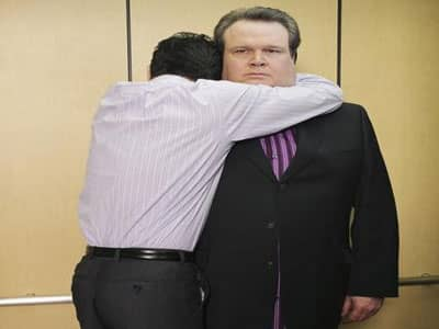 hugging at work