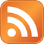 A standard RSS feed icon