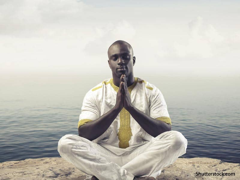 Man Praying Ocean