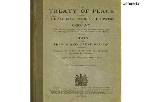 Treaty of Versailles WWI