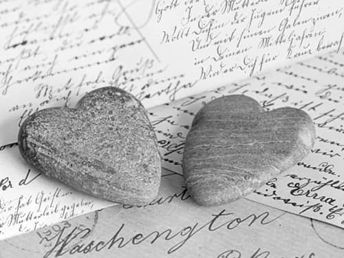 Hearts and letters