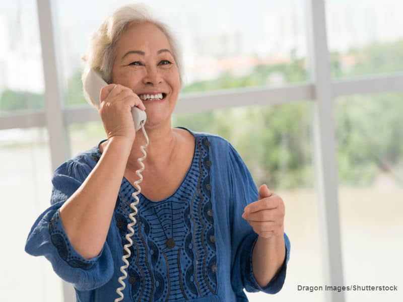 grandma on the phone