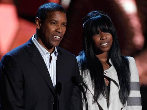 Denzel Washington with daughter Katia