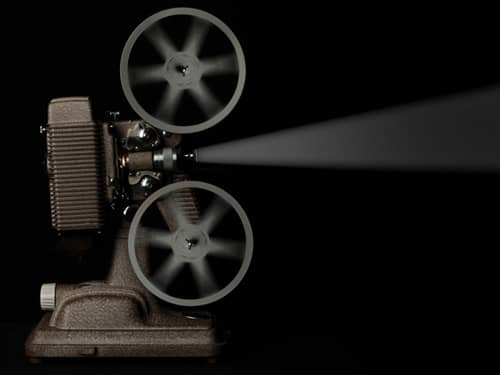 Antique movie projector