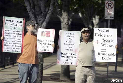 Holy Land Foundation Protestors