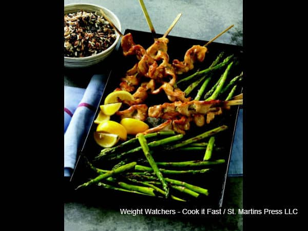 Quick Chicken Satay with Asparagus