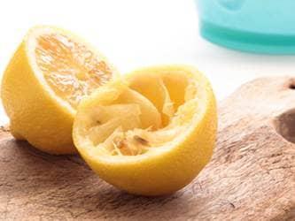 Lemons squeezed of their juice