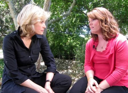 Diane Sawyer and Jaycee Dugard