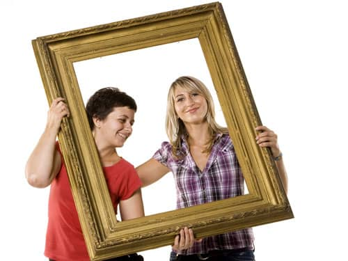 Women in a frame