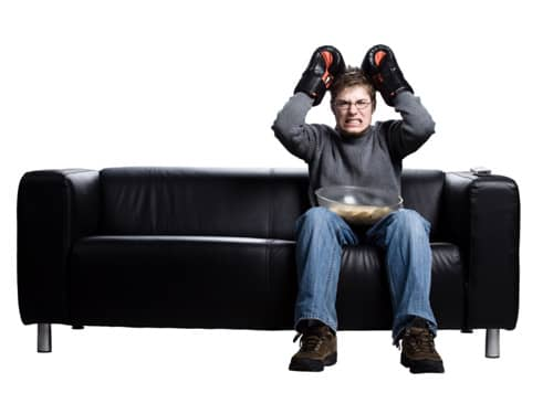 Angry man with boxing gloves
