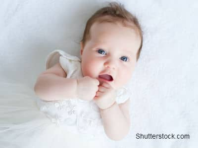 Baby in Baptism Dress