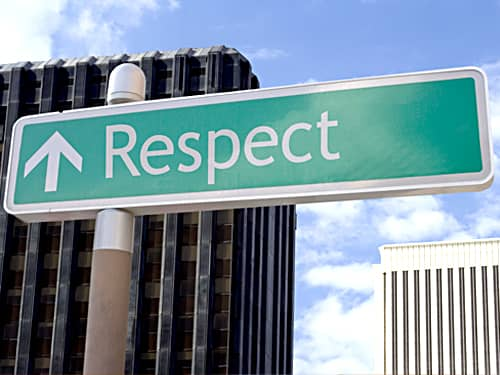 How kids learn respect - respect sign