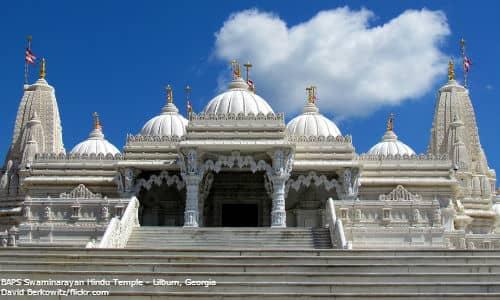 american, hindu, temple