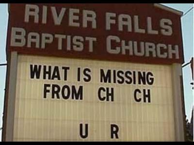 Related Pictures funny church signs beliefnet com