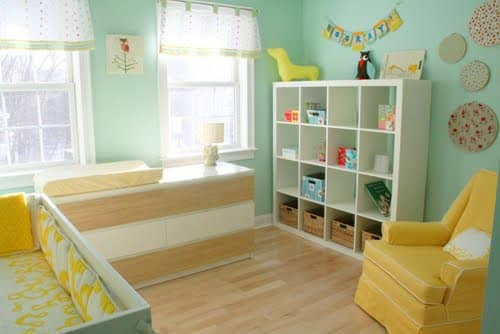 small space organizing, small space living ideas, small space interior decorating, Kathryn Bechen author, nursery space decorating, nursery organizing ideas