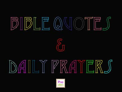 bible quotes and daily prayers
