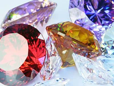 Birthstones for Every Month of the Year. Colorful Birthstones