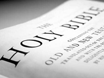 close up holy bible