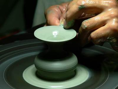 Clay potter's wheel
