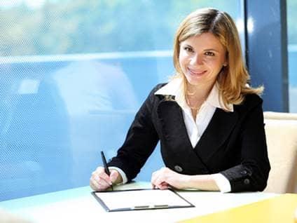 Happy professional woman