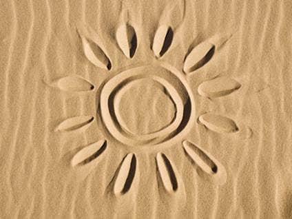 A sun in the sand