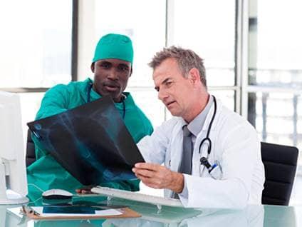 Two doctors talking
